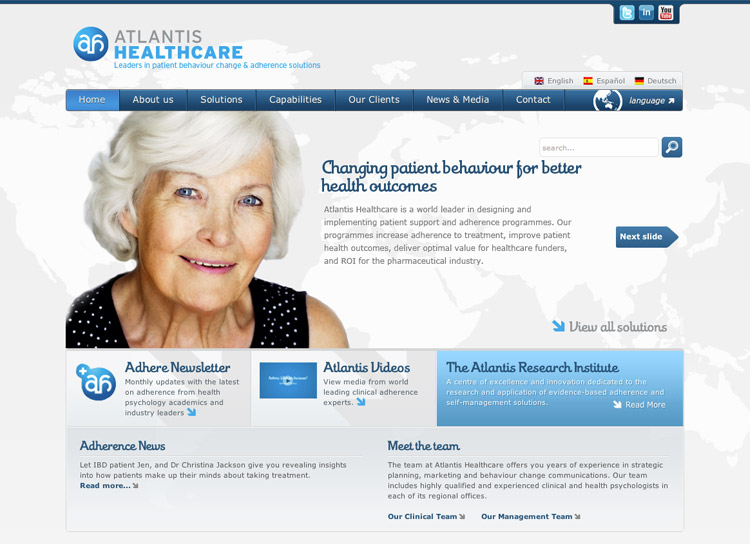 Atlanstis Healthcare - Website Design and Development