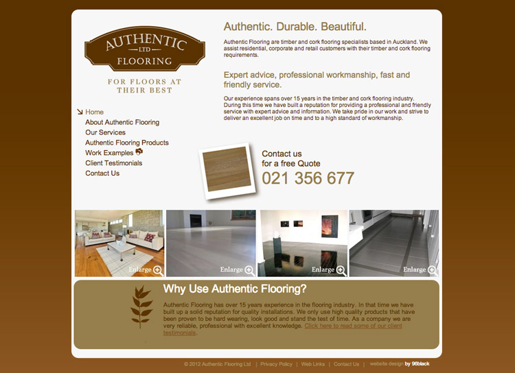 Authentic Flooring - Website Design and Development