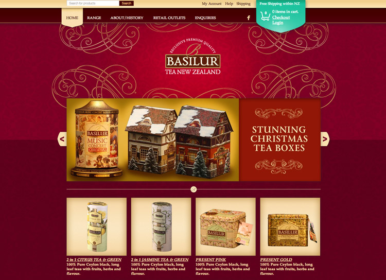 Basilur Tea - Website Design and Development