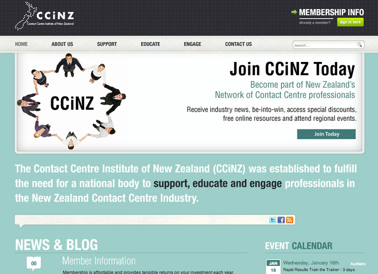 CCiNZ - Website Design and Development