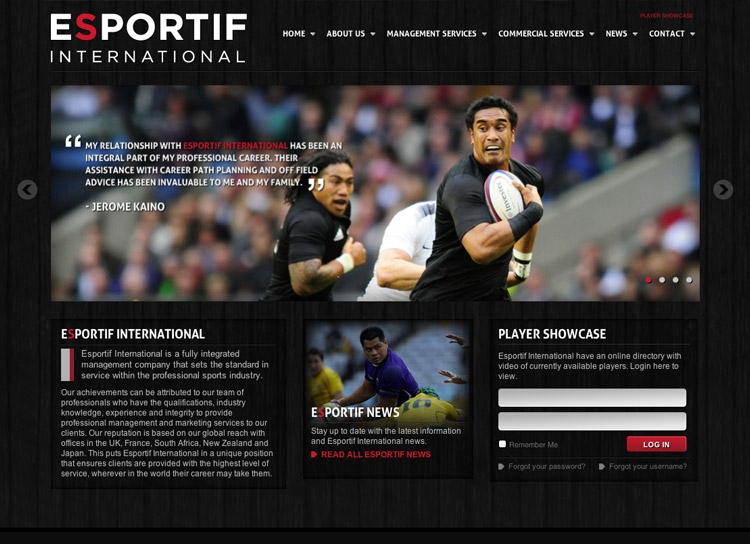 ESPORTIF - Website Design and Development