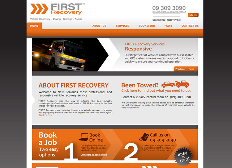 FIRST Recovery - Website Design and Development
