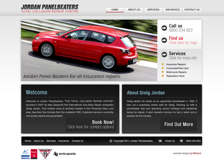 Jordan Panel Beaters - Website Design and Development
