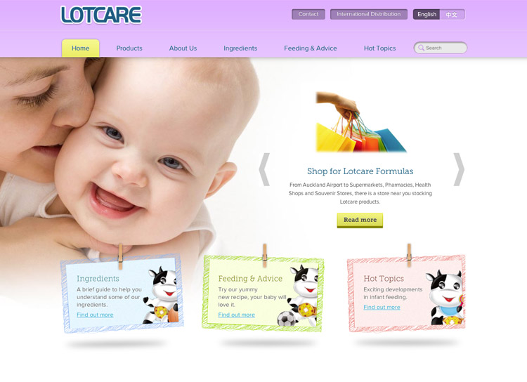 Lotcare - Website Design and Development