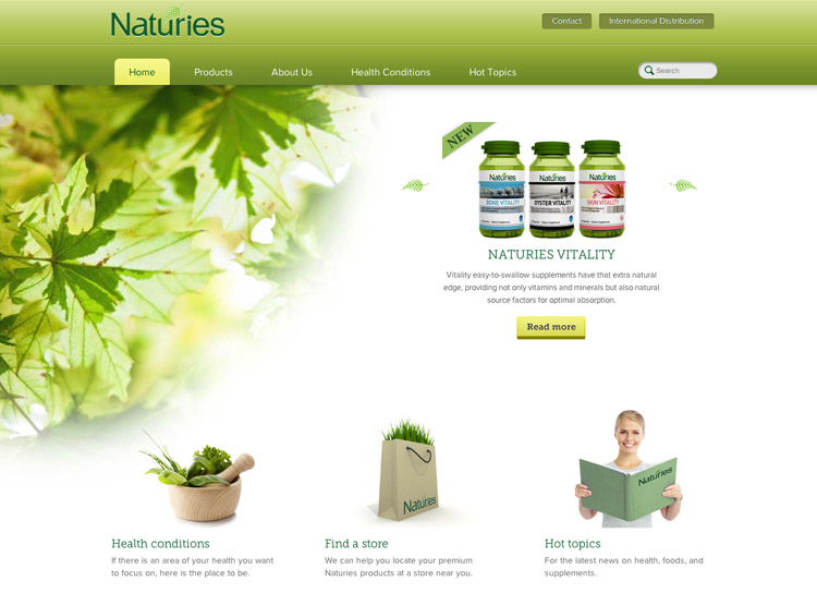 Naturies - Website Design and Development