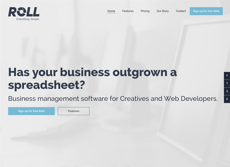 Roll - Website Design and Development