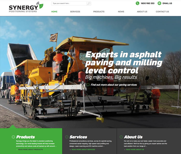 Synergy Positioning - Website Design and Development