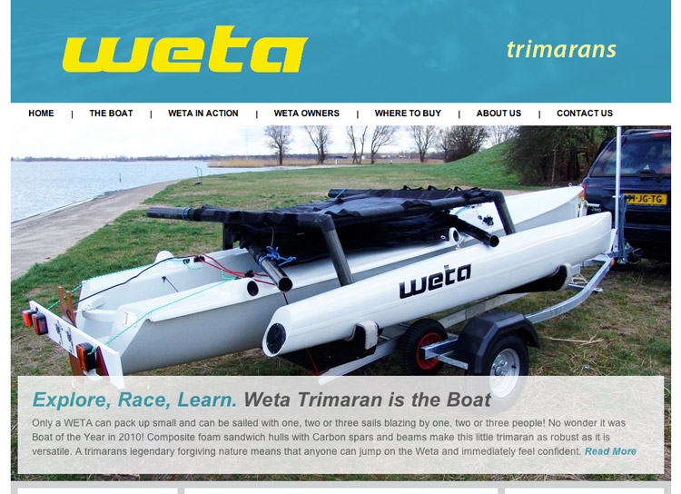 Weta Marine - Website Design and Development
