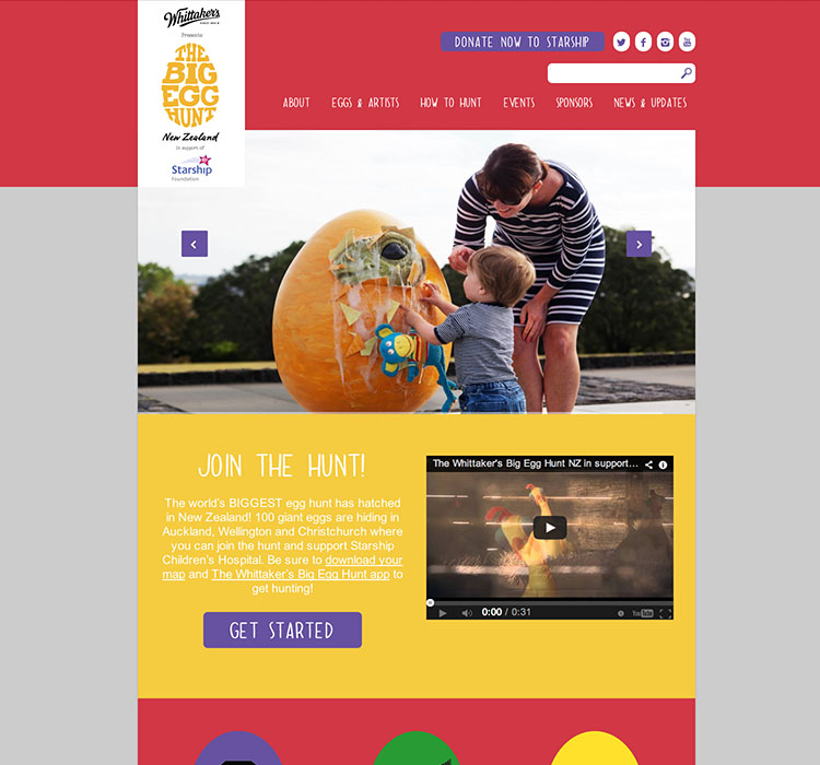 Big Egg Hunt - Website Development